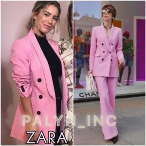 ZARA PINK DOUBLE BREASTED JACKET